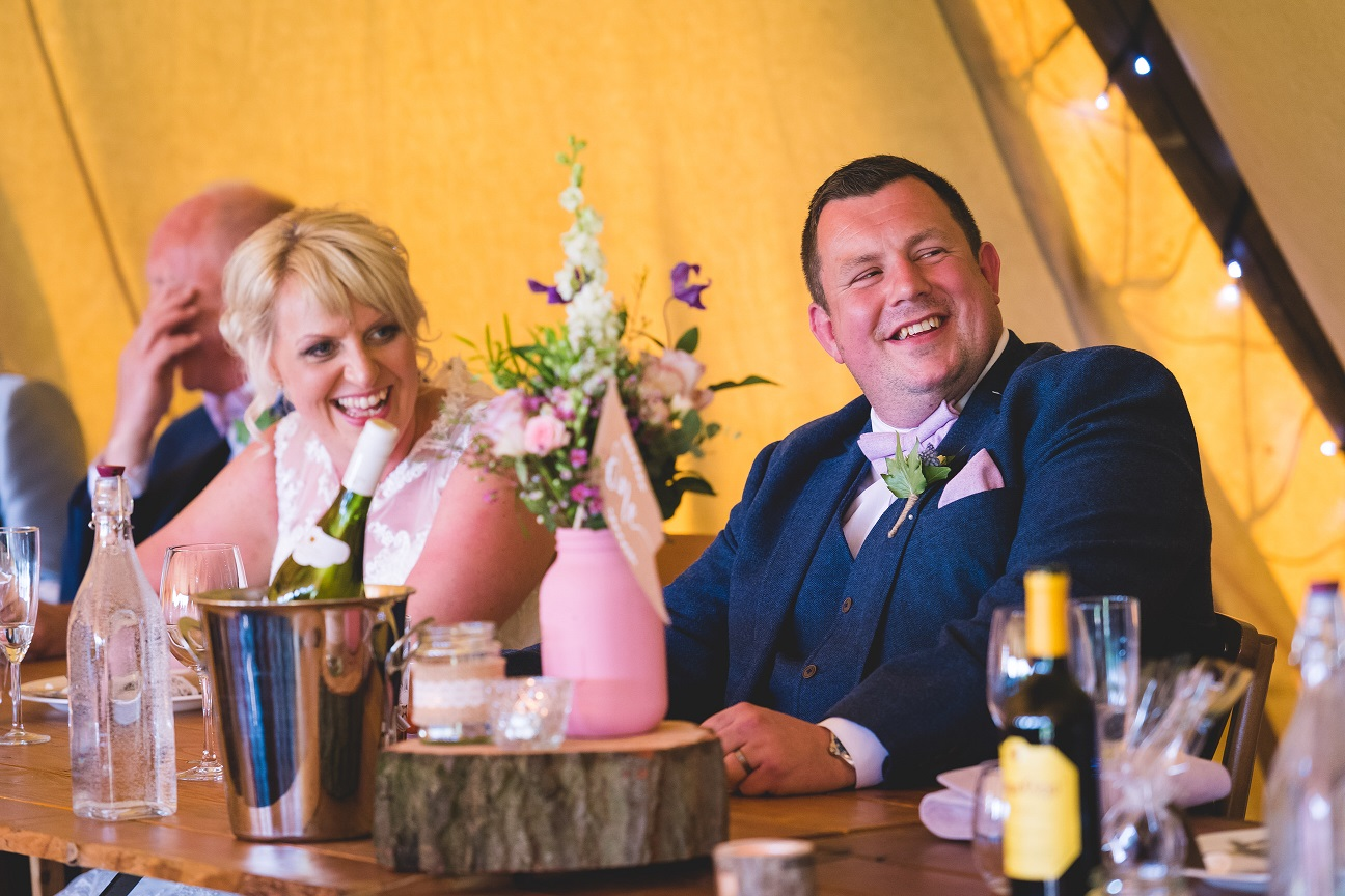 Teepee wedding in Stirton, North Yorkshire