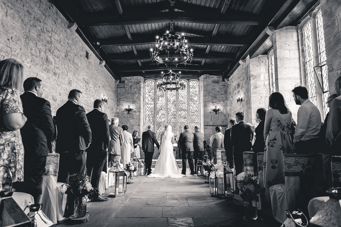 Wedding ceremony at The Priest's House in North Yorkshire