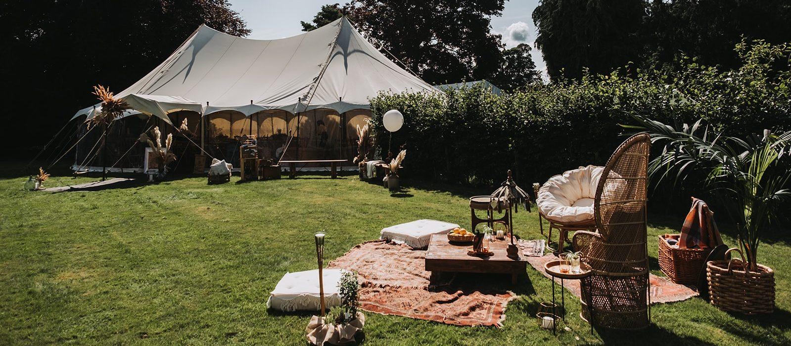 Outdoor wedding at Barolin Farm, in North Yorkshire