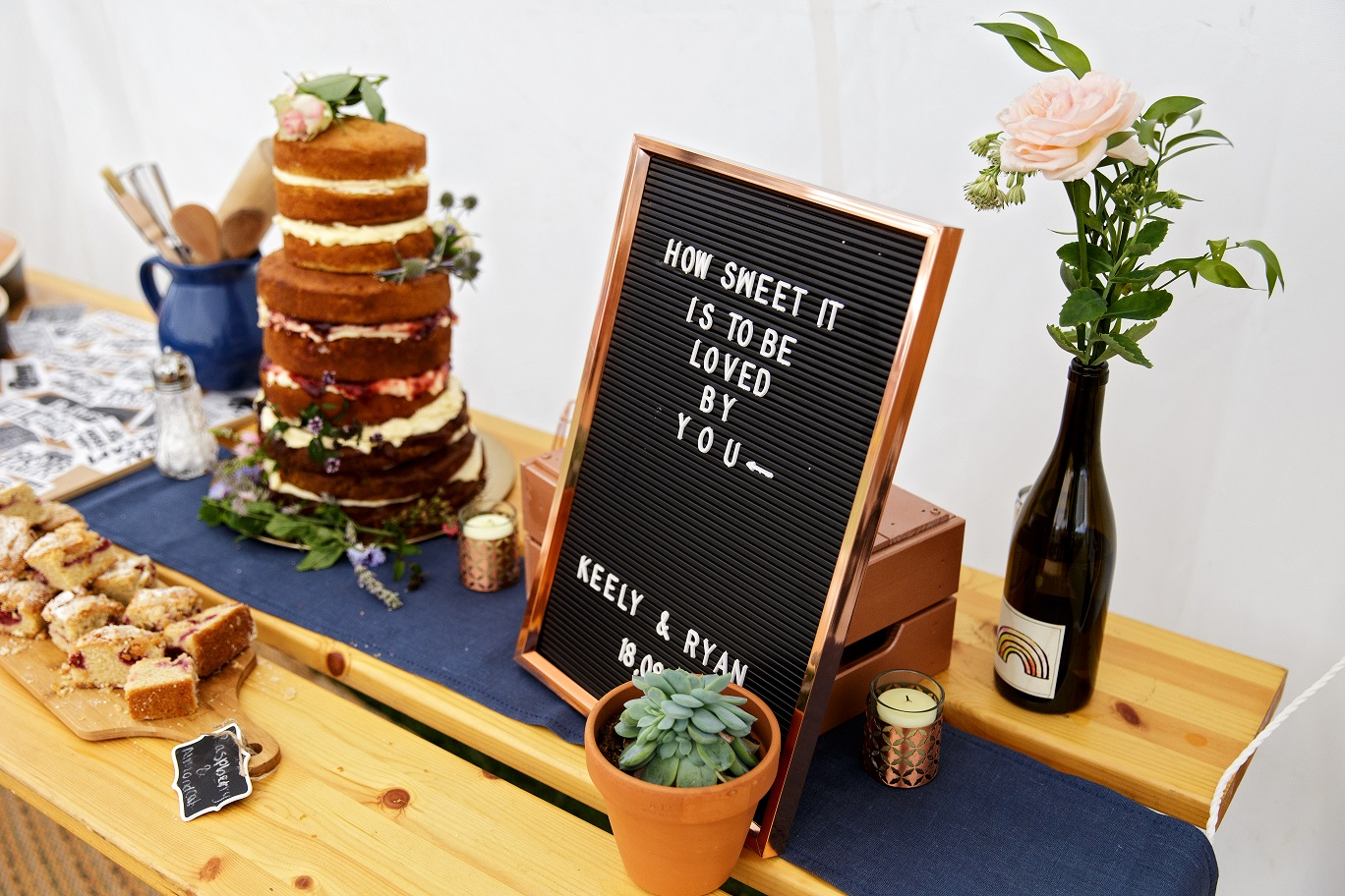 Homemade wedding dessert table inspiration