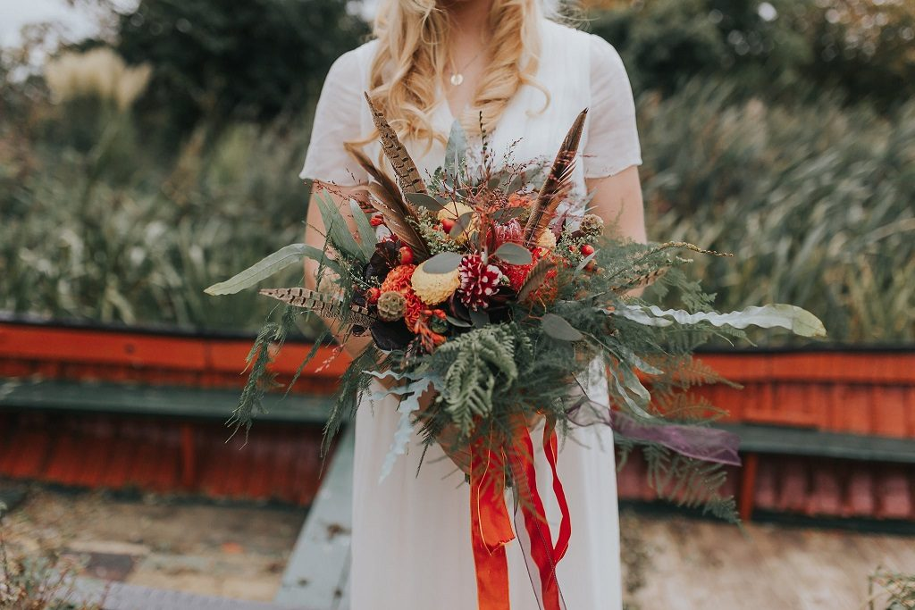 Autumnal wedding bouquet inspiration by Horticouture
