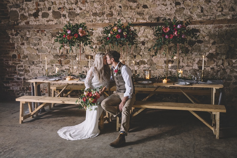 Barn wedding inspiration at Camp Katur in North Yorkshire