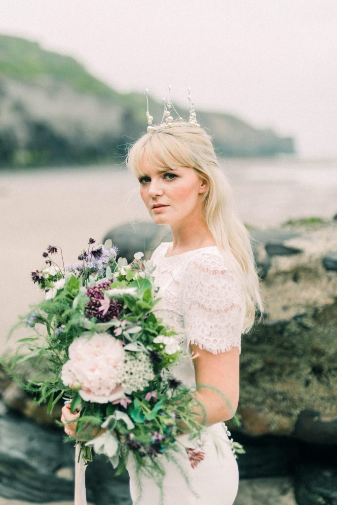 Beach bride in Whitby