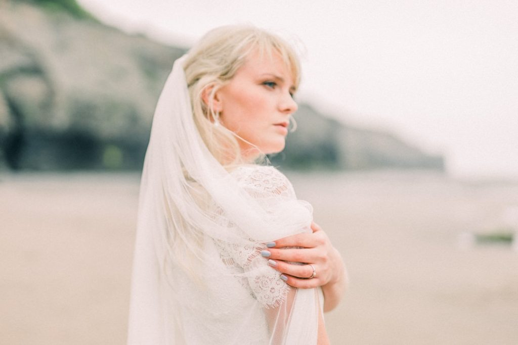Beach inspired wedding shoot in Whitby