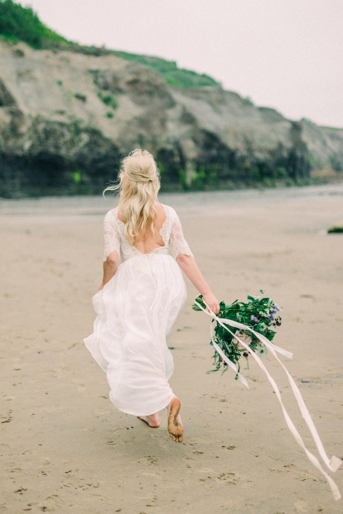 Beach inspired wedding shoot in Whitby, Yorkshire