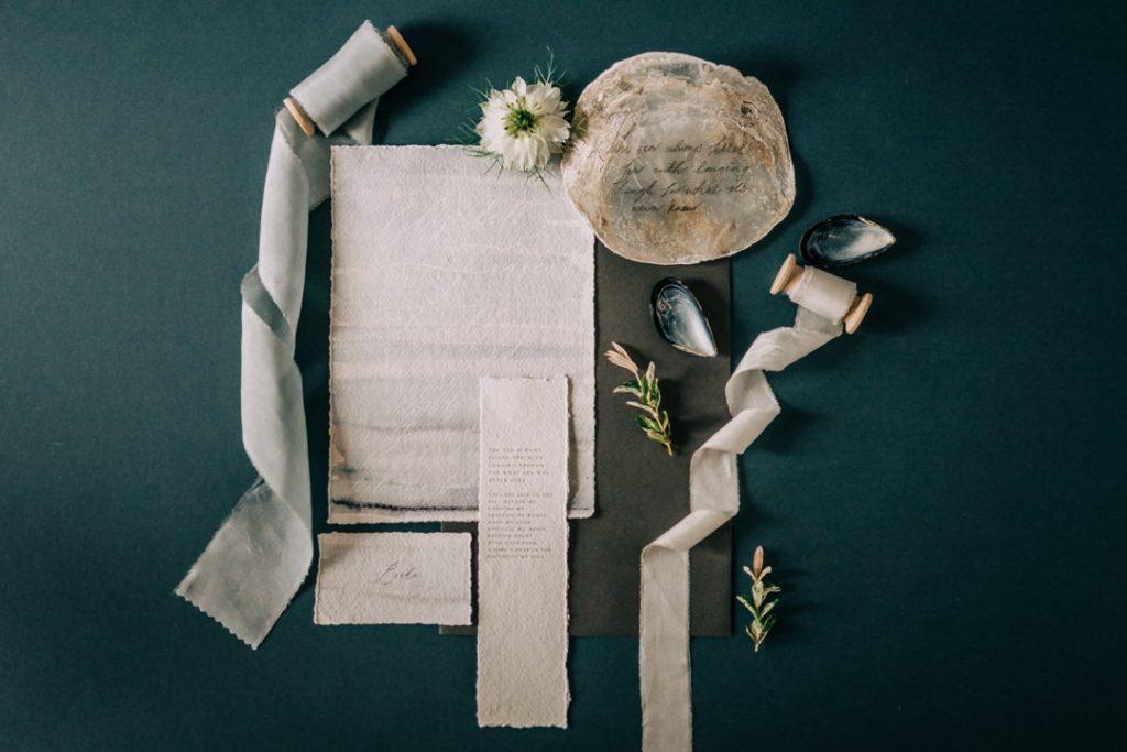 Beach inspired wedding stationery by Gray Starling Designs