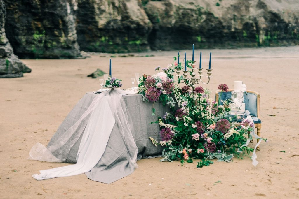 Beach inspired wedding styling by Styling Farm