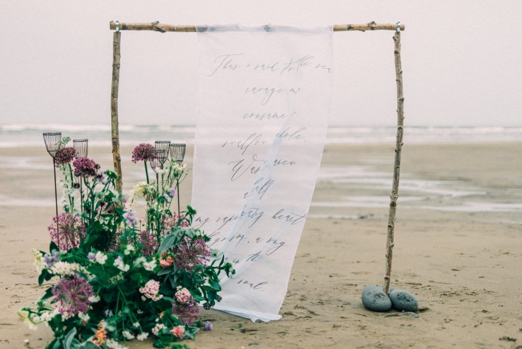 Beach wedding inspiration in Whitby, Yorkshire