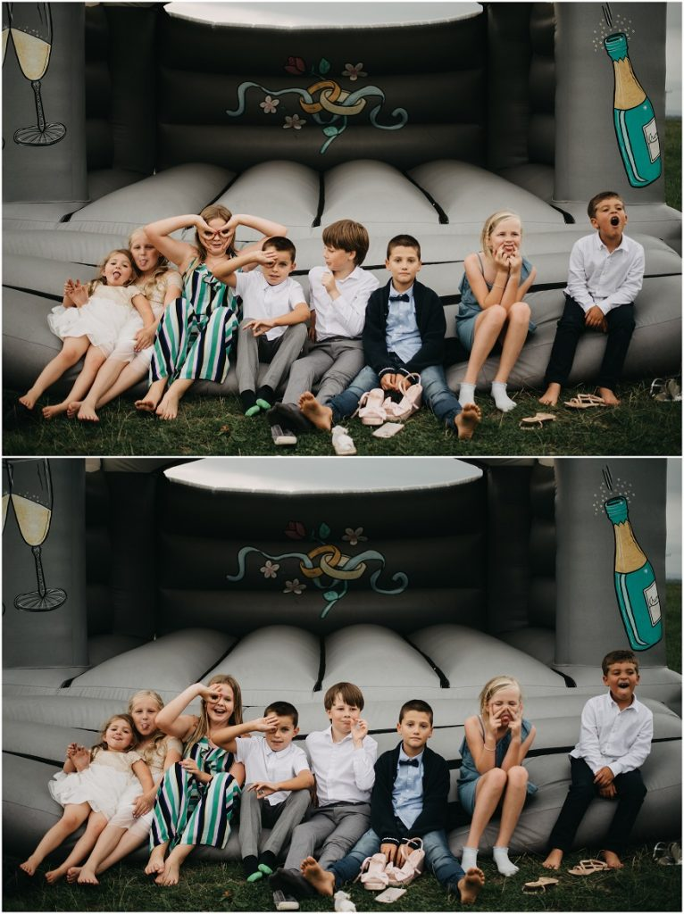 Bouncy Castle at a DIY wedding