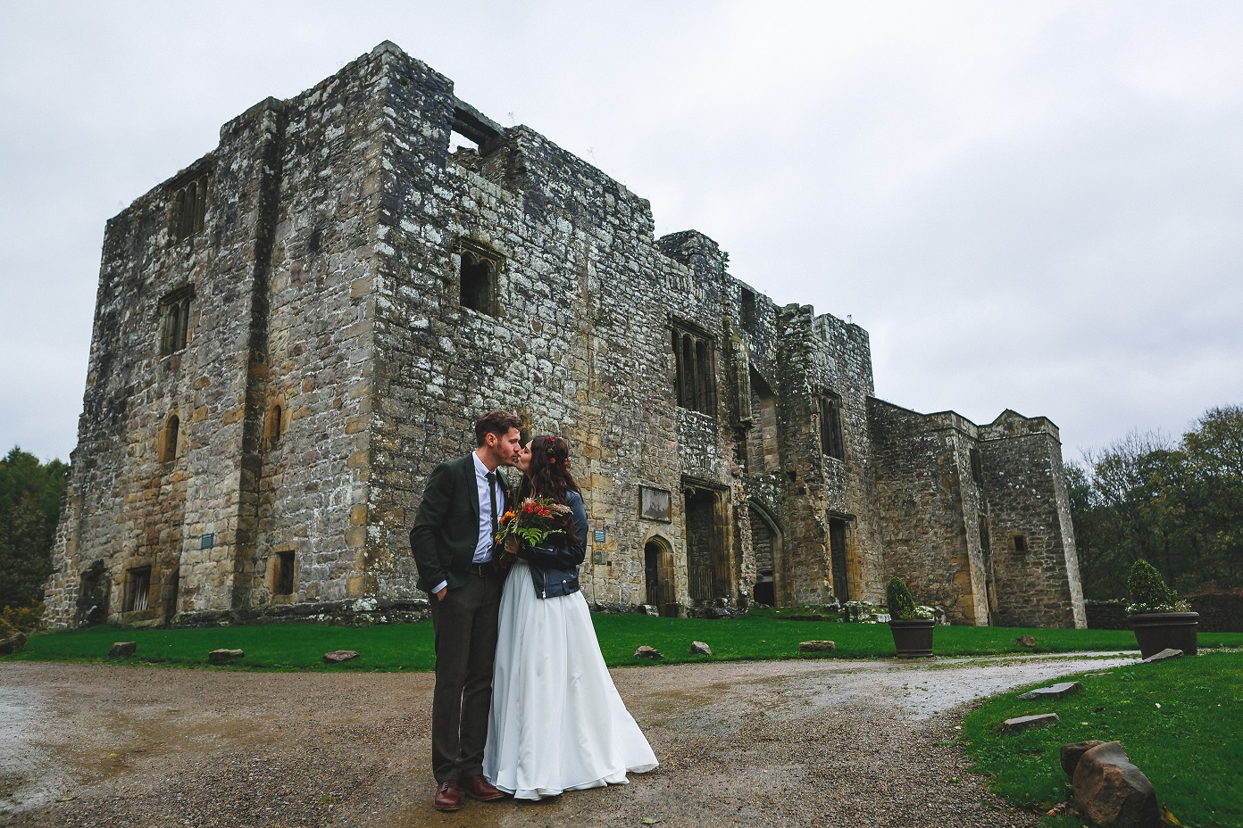 Bride and groom at The Priest's House in North Yorkshire