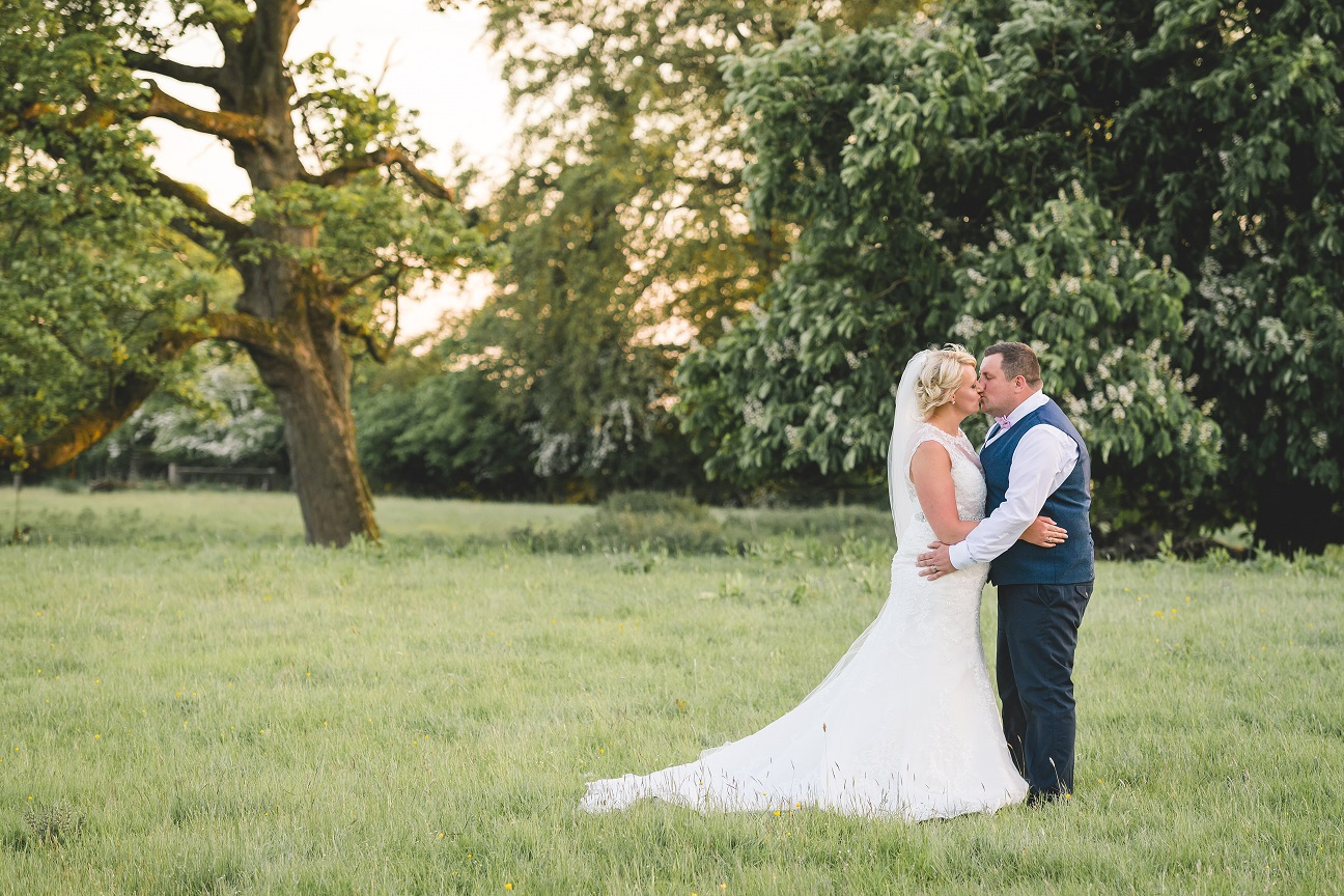 Bride and groom on their wedding day in Skipton, North Yorkshire