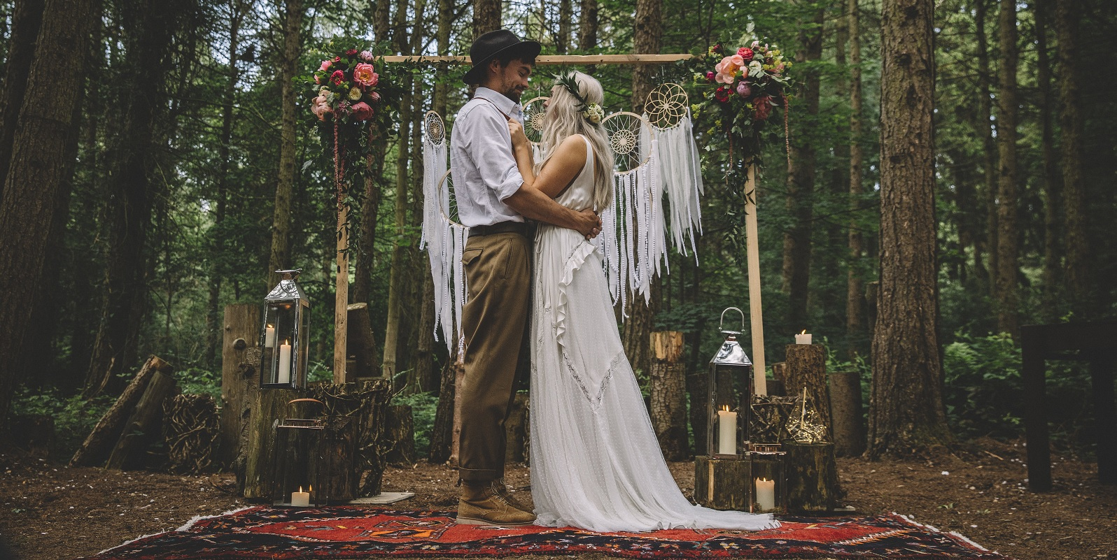 Camp Katur Bohemian Woodland Wedding Photoshoot