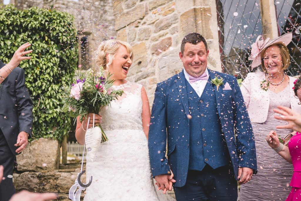 Confetti shot at The Priest's House at Bolton Abbey