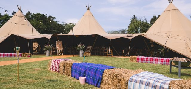 DIY teepee wedding in Stirton, Skipton