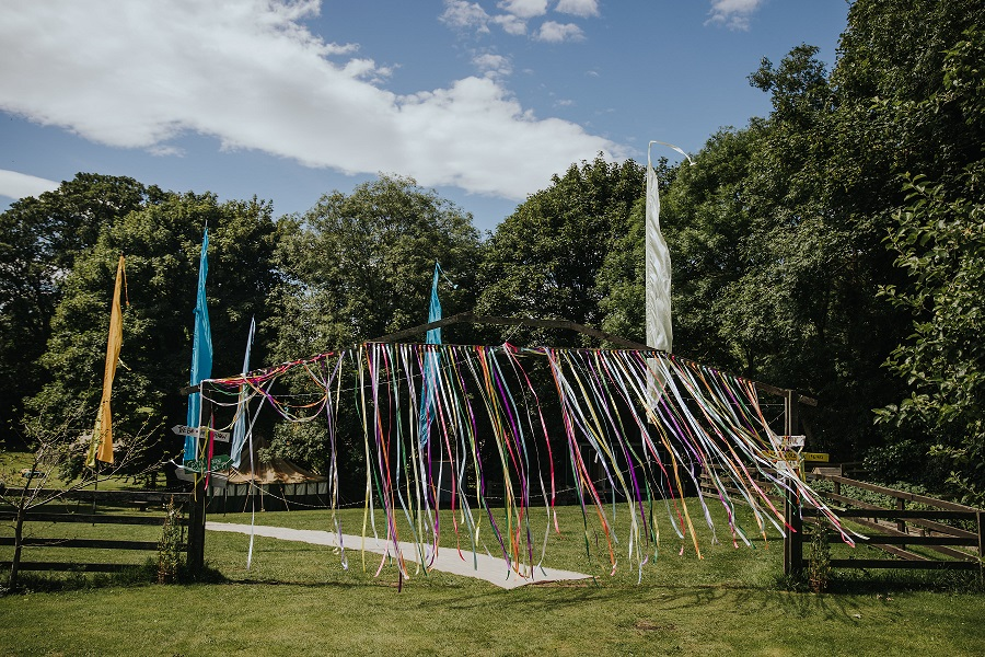Festival themed outdoor wedding in Leeds, West Yorkshire