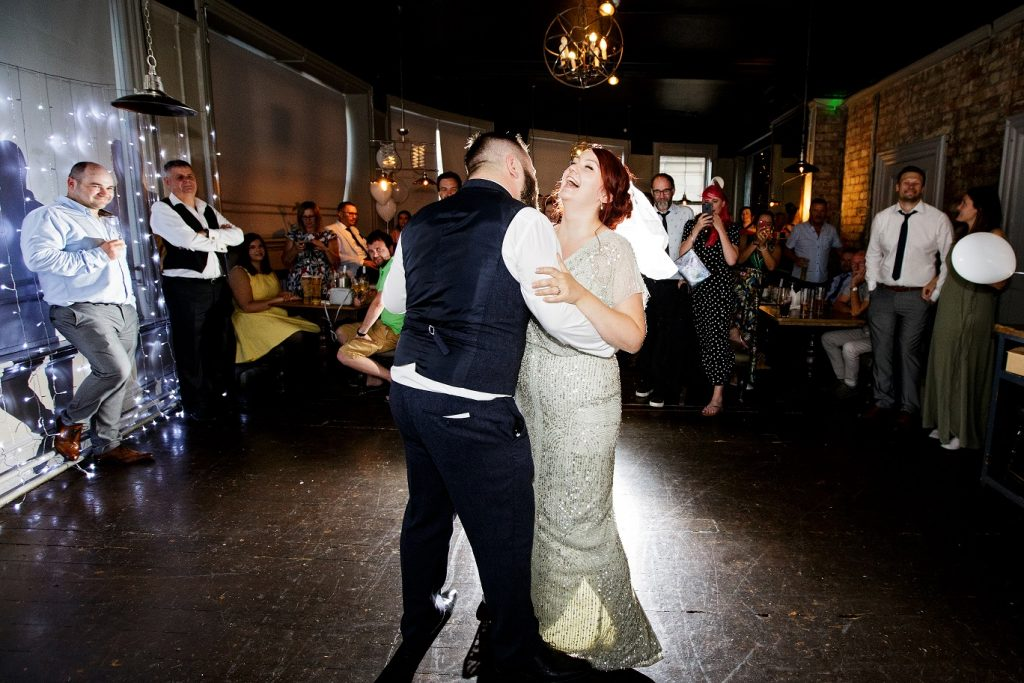First dance as husband and wife at The Adelphi Pub in Leeds