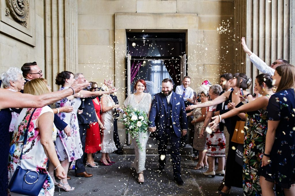 Just married at Leeds Town Hall