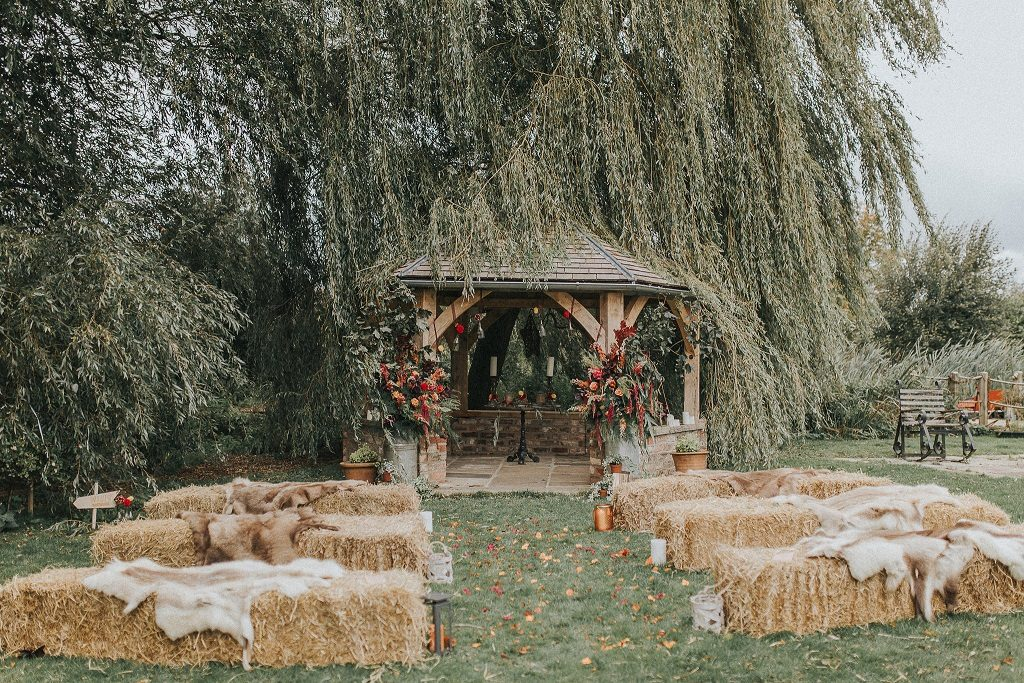 Outdoor ceremony at Skipbridge Country Weddings