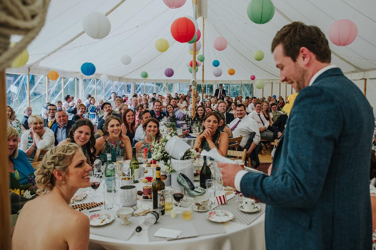 Outdoor marquee wedding in Leeds, West Yorkshire