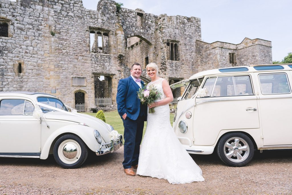 Vintage wedding cars at The Priest's House, Bolton Abbey
