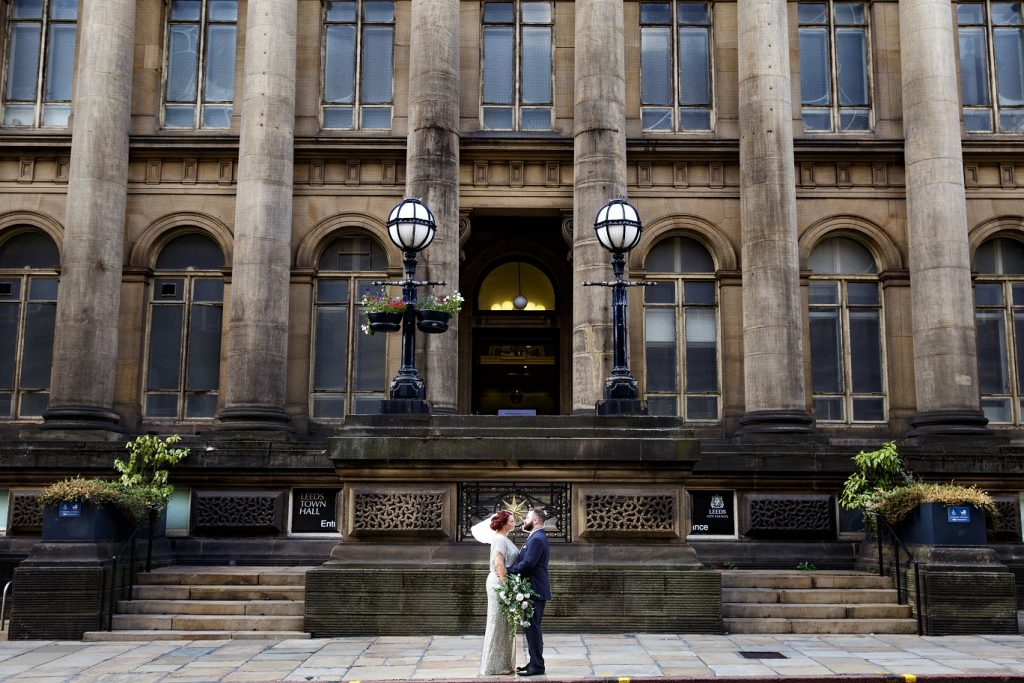 Wedding ceremony at Leeds Town Hall