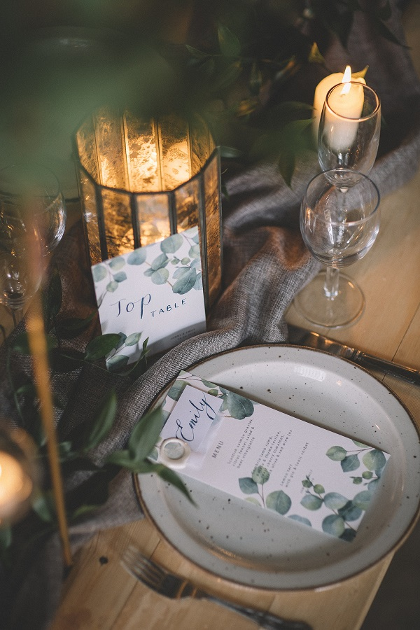 Wedding table setting inspiration at Camp Katur in Yorkshire