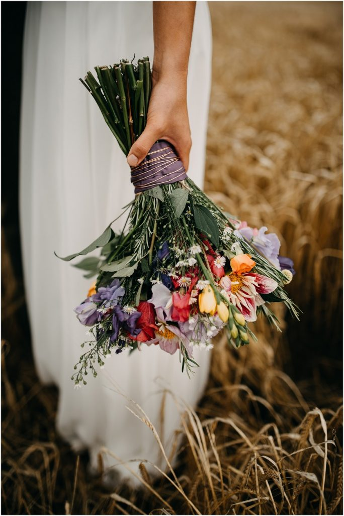 Wild wedding flower inspiration