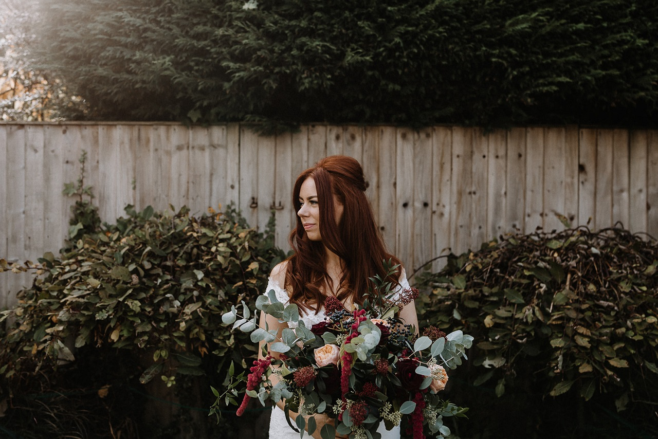 Autumnal wedding flowers by Lily's of Bramhope