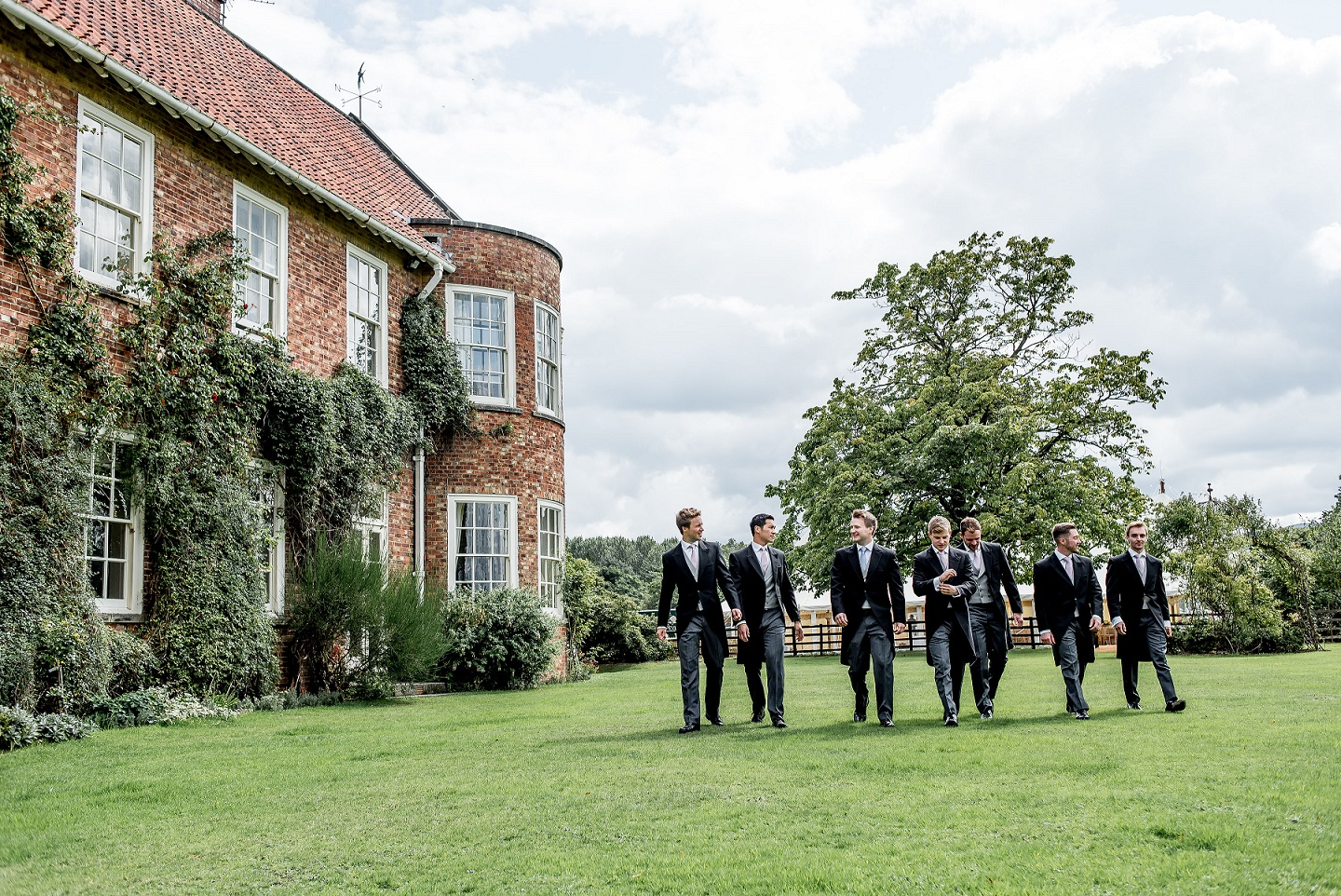 Groom and his groomsmen at Chapelgarth Estate
