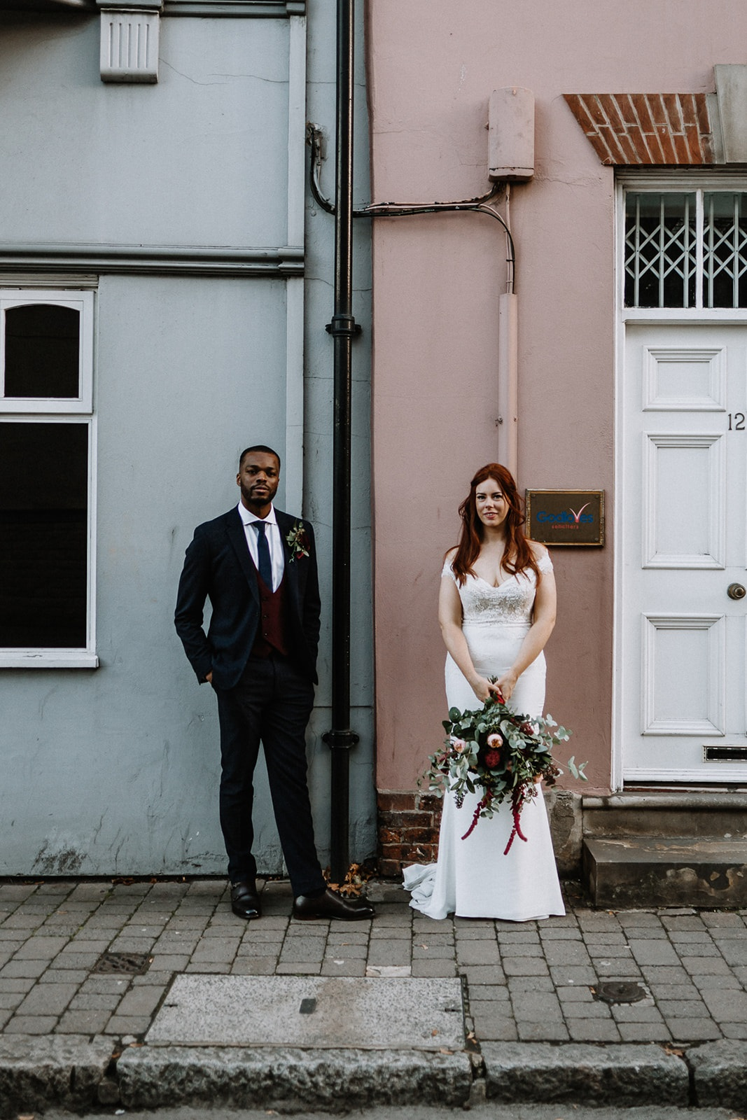 Leeds city centre industrial wedding