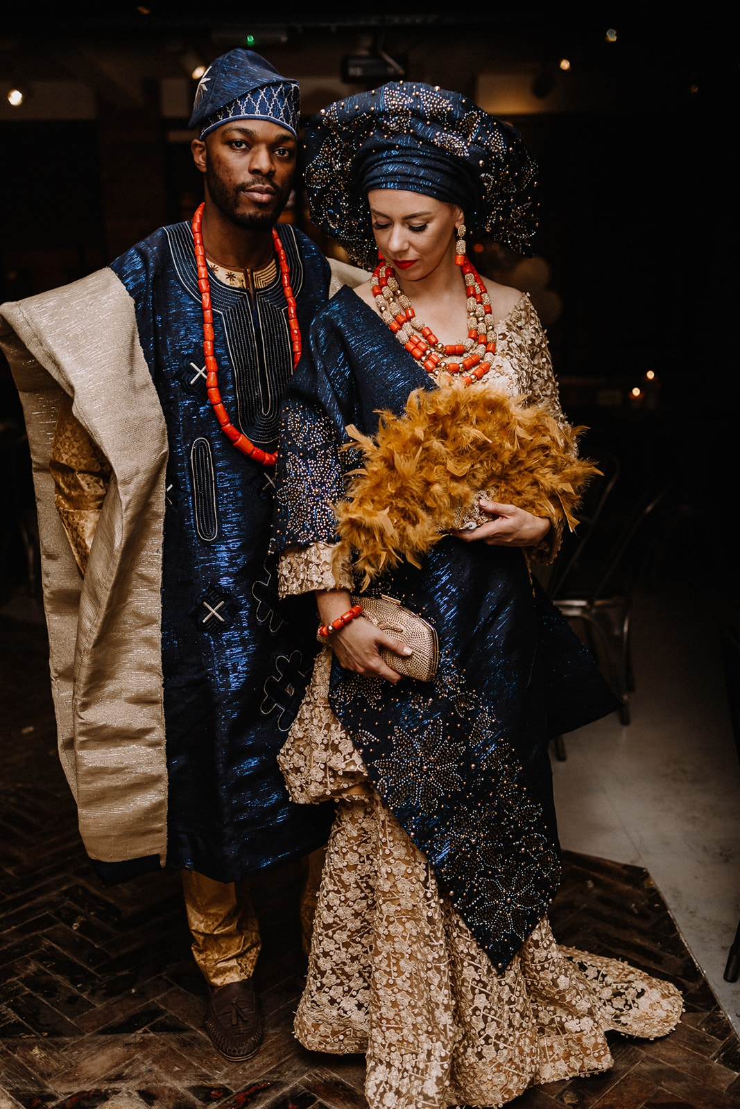 Nigerian wedding reception at Lambert's Yard in Leeds, West Yorkshire