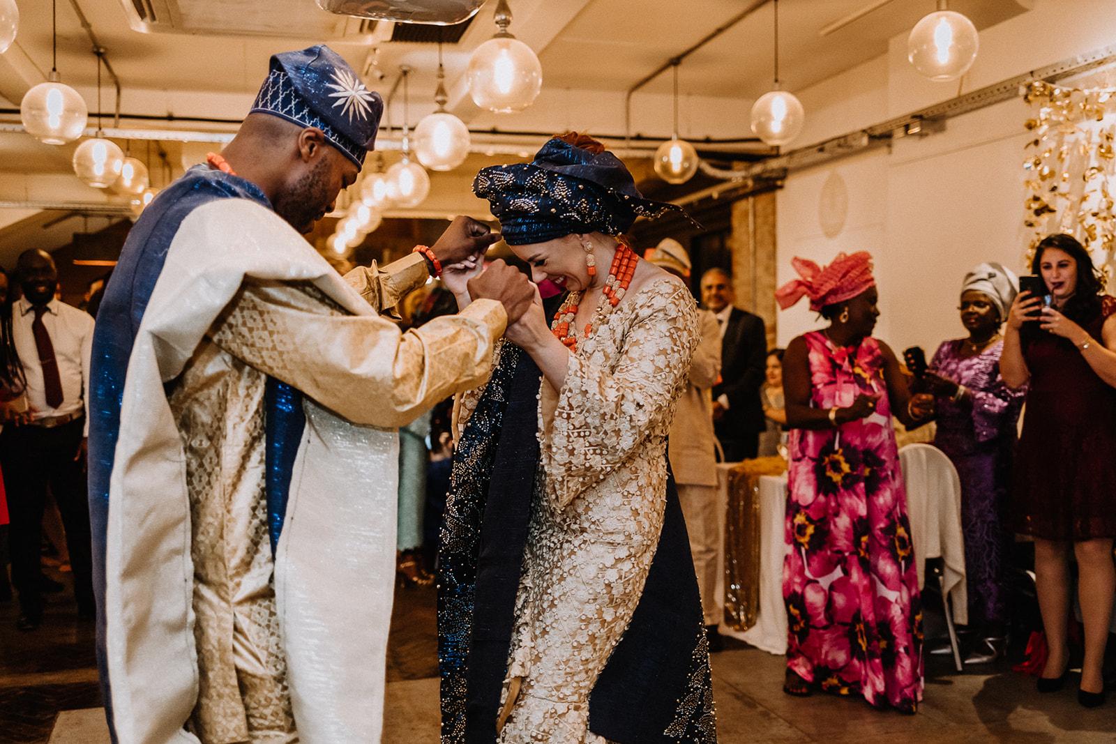 Nigerian wedding reception at Lambert's Yard in Leeds