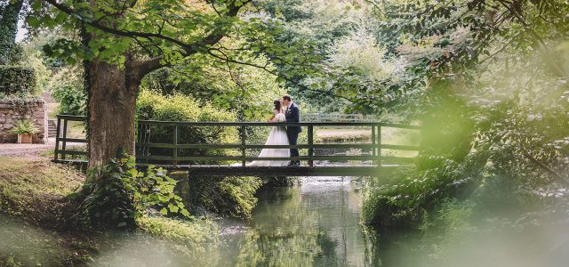 Outdoor marquee wedding at Markington Hall in North Yorkshire