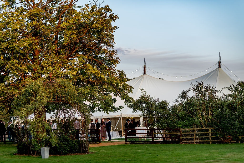 Marquee wedding at Chapelgarth Estate