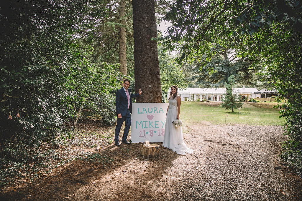 Outdoor wedding at Markington Hall in North Yorkshire
