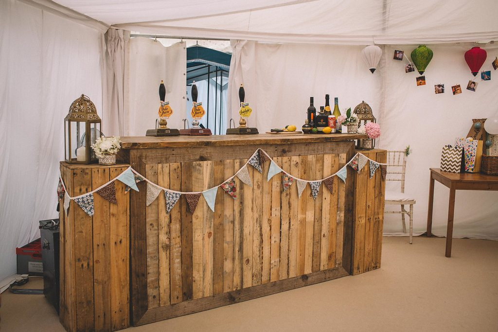 Rustic wedding bar inspiration