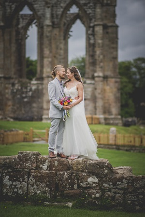 Marc and Abi at Bolton Abbey Village Hall