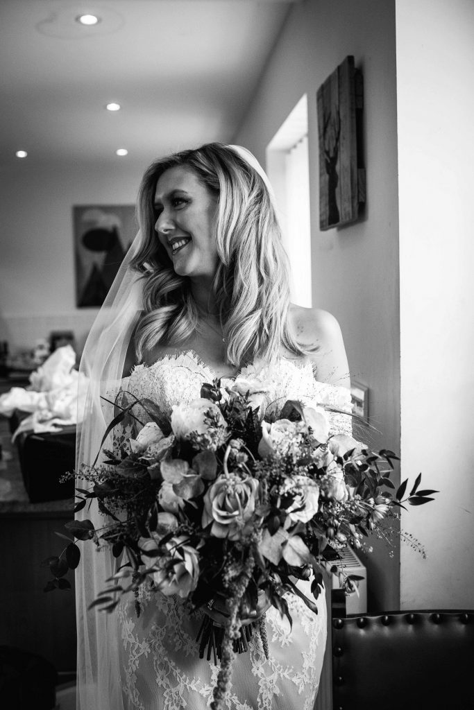 Beautiful bride at Gratton Grange Farm