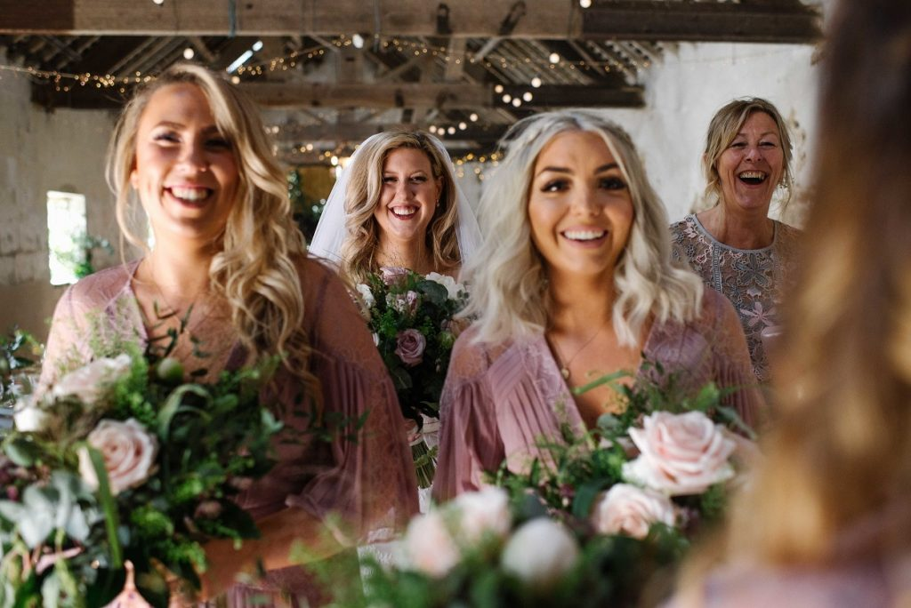 Bride tribe at Gratton Grange Farm