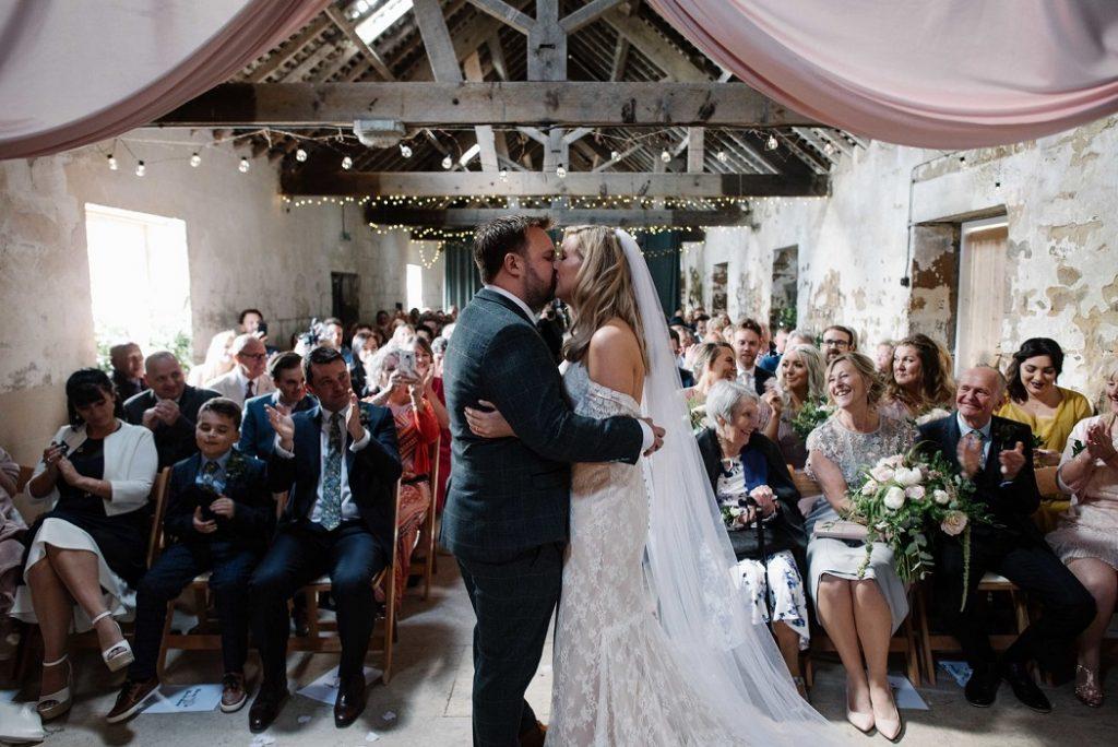 Just married at Gratton Grange Farm