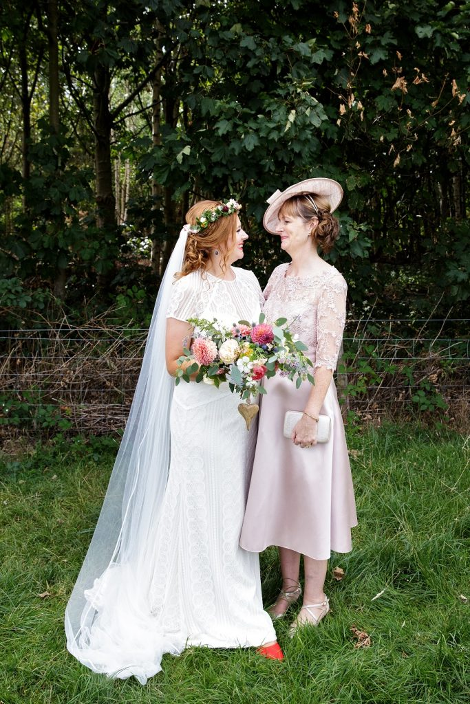 Bride and Mother of the Bride at Escrick Park Estate in York