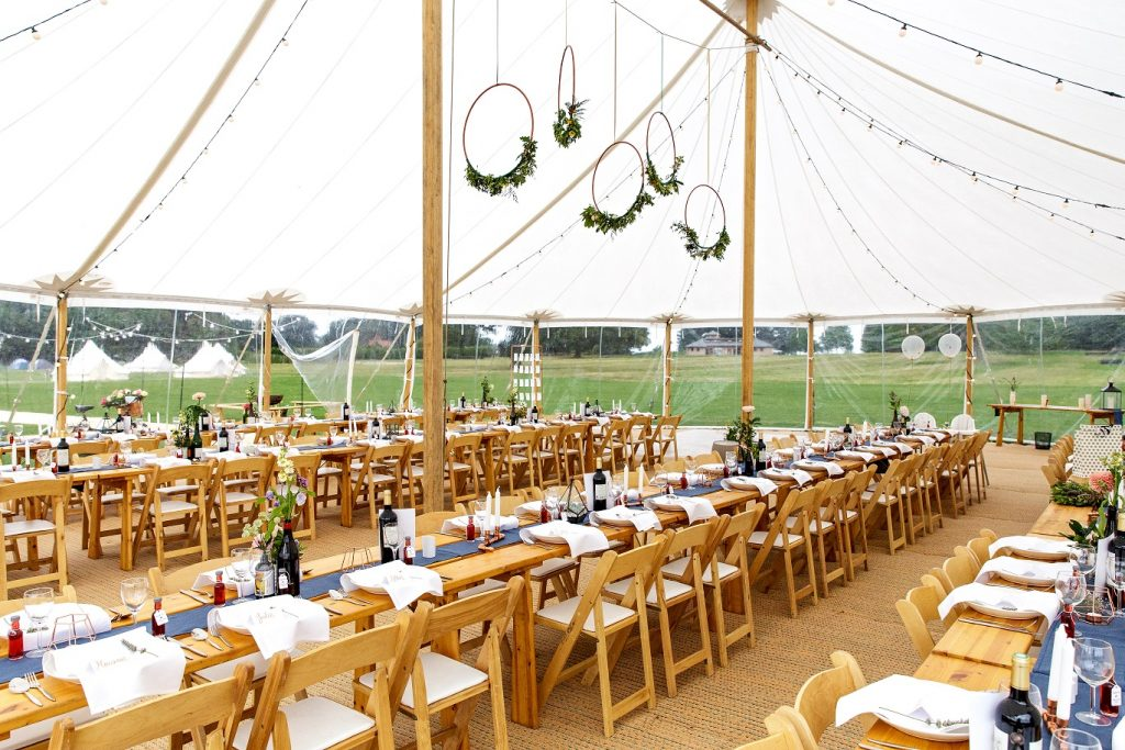Modern tipi wedding styling at Escrick Park in York