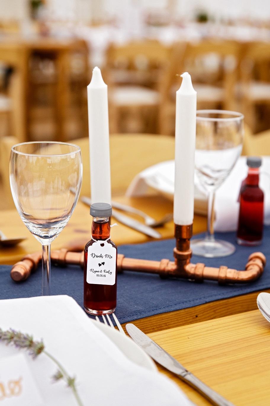 Modern wedding table styling at Escrick Park in York