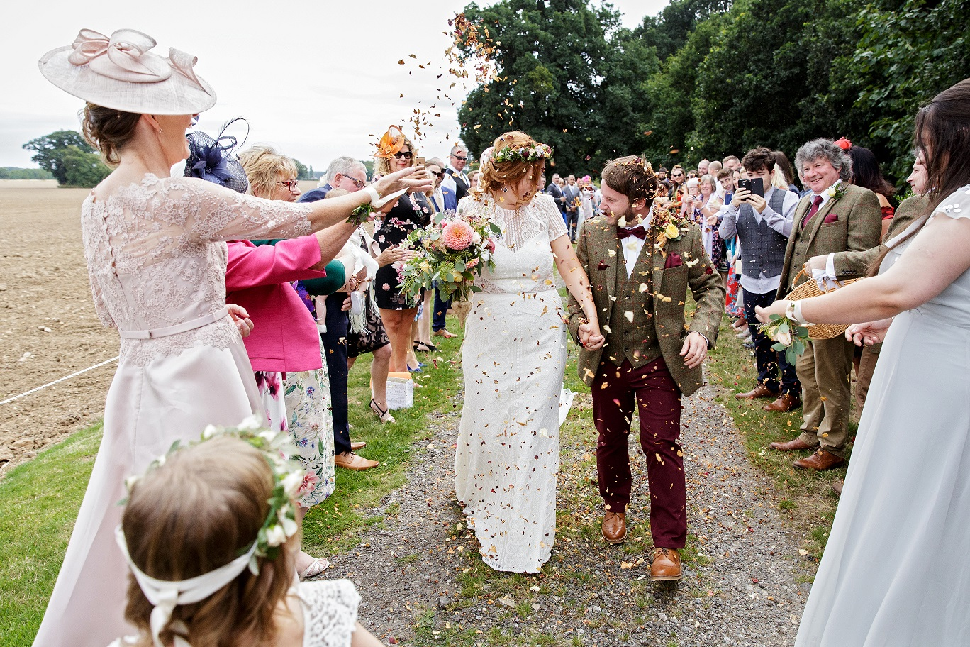 Outdoor Confetti Shot at Escrick Park in York