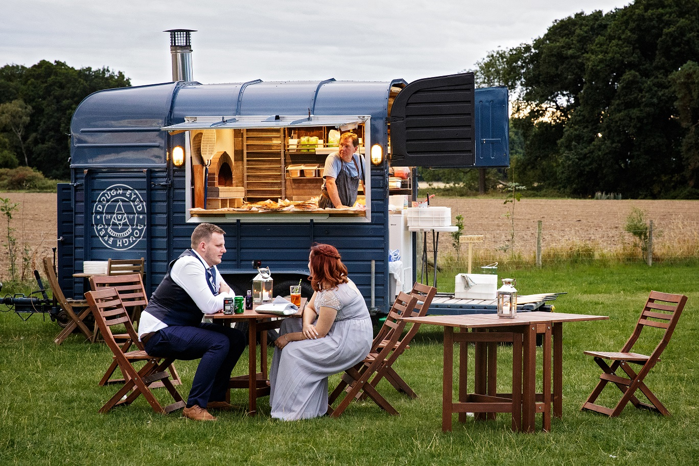 Wedding street food van at Escrick Park Estate in York